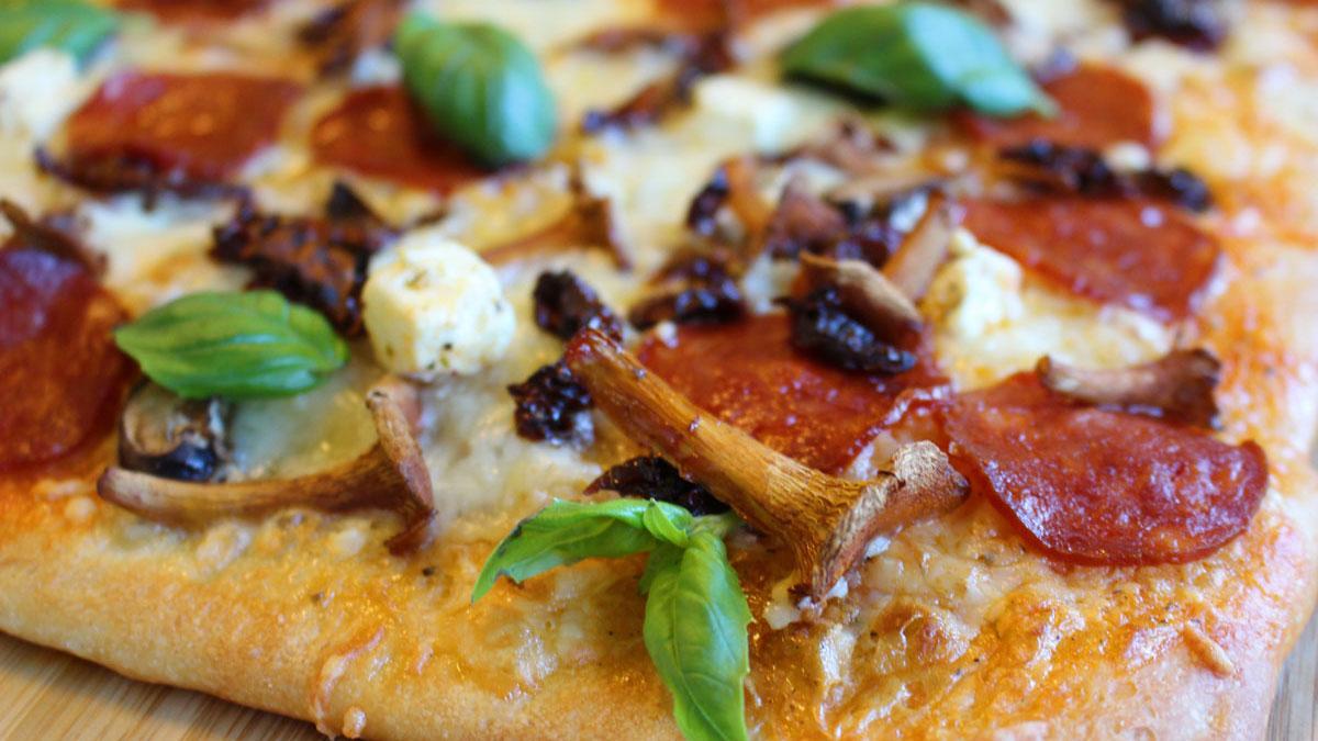 melkefri ost til pizza
